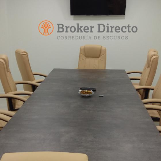 Sala de juntas en nuestra correduria de seguros